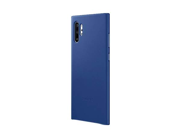 SAMSUNG GALAXY NOTE10+ LEATHER COVER BLUE