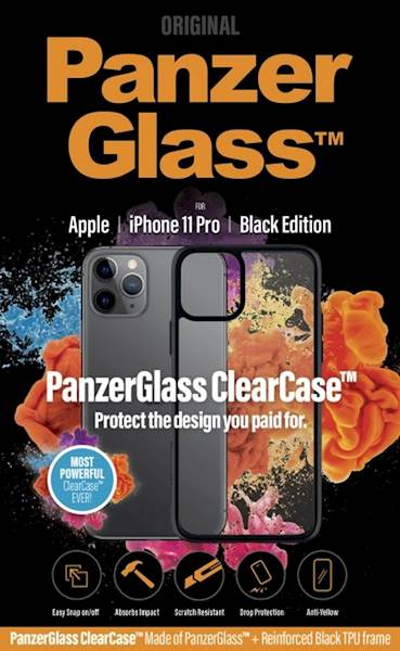 PANZERGLASS CLEAR CASE IPHONE 11 PRO BLACK