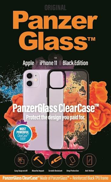 PANZERGLASS CLEAR CASE IPHONE 11 BLACK